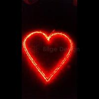 Led Işıklı Kalp 60cm
