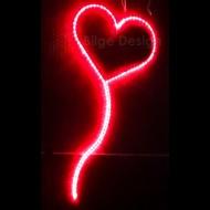 Led Işıklı Balon Kalp