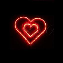 İkili Kırmızı Kalp