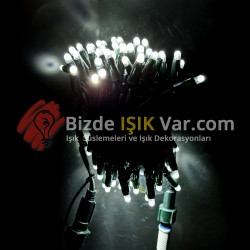 Eklemeli Led Işık Beyaz IP65 Yeşil Kablolu