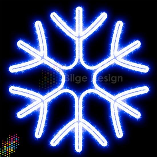 Led Işıklı Kar tanesi 90 cm Beyaz