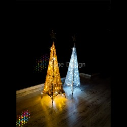 Led Işıklı Gold Piramit 200cm