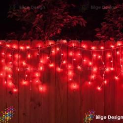 Saçak Işık 3,5x1 Dış Mekan Kırmızı IP65