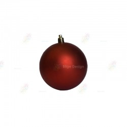 10cm Yılbaşı Topu Kırmızı Mat
