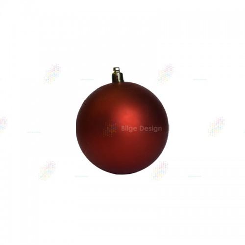 12cm Yılbaşı Topu Kırmızı Mat
