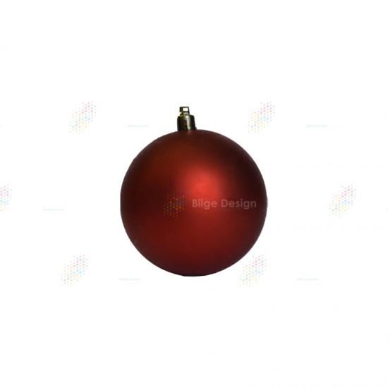 15cm Yılbaşı Topu Kırmızı Mat