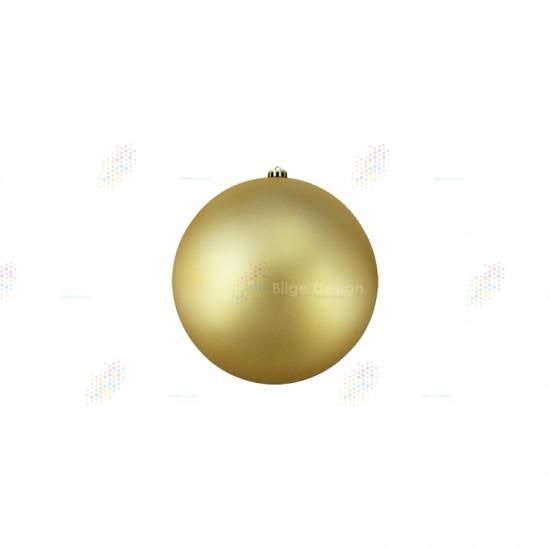 15cm Yılbaşı Topu Gold Mat