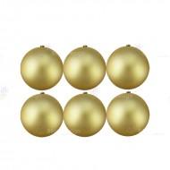 8cm Yılbaşı Topu Gold Mat (6 Adet)