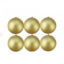 10cm Yılbaşı Topu Gold Mat (6 Adet)