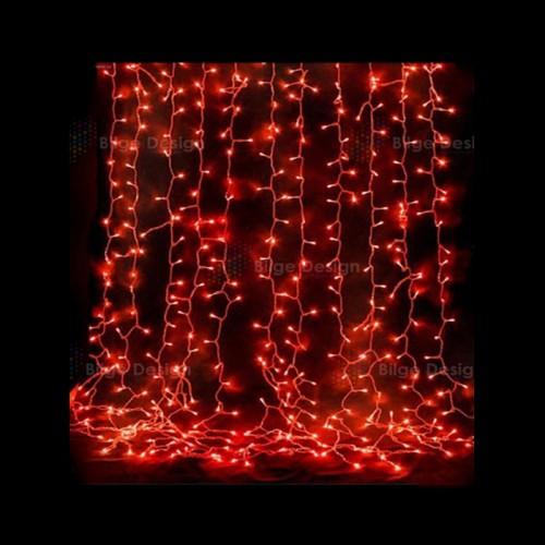 Led Perde 2x3 İç Mekan Kırmızı IP44
